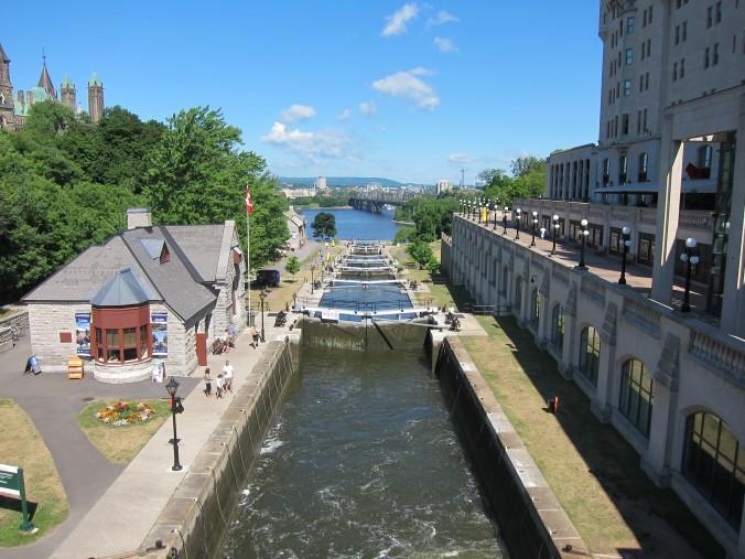 Rideau Canal locks, downtown Ottawa