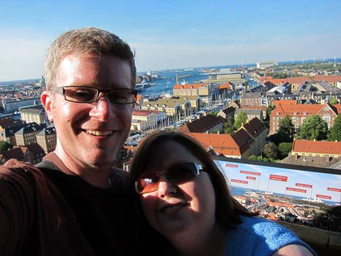 The two of us high above Copenhagen