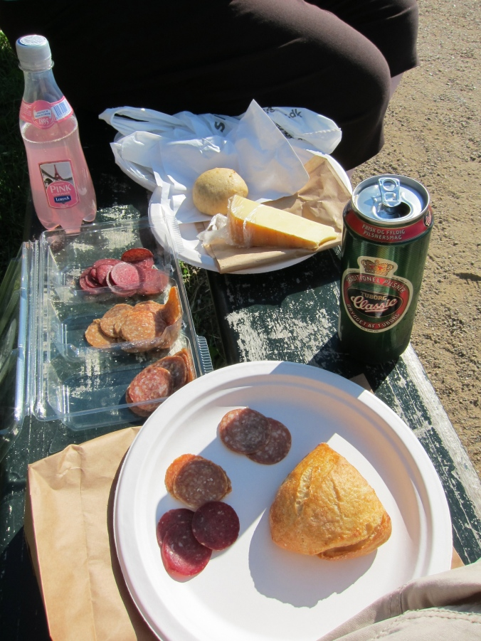 Picnic supper with supplies from the market