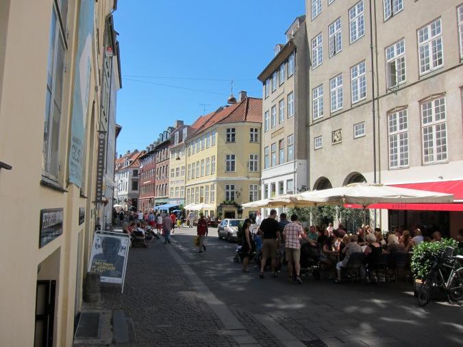Typical Danish streetscape
