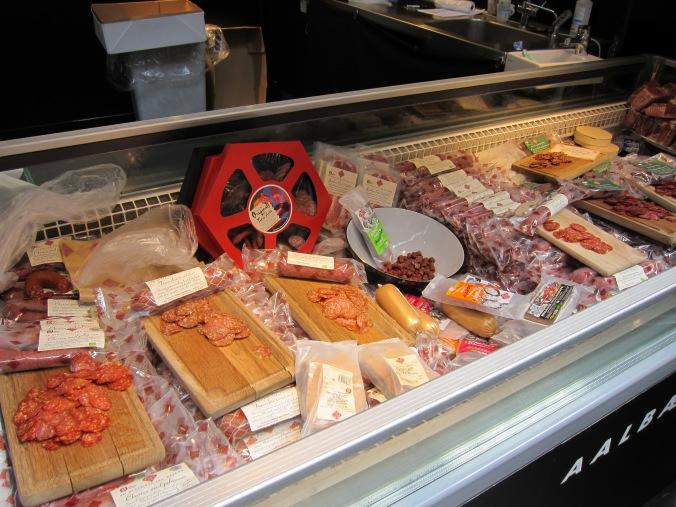 Sausage stand at Torvehallerne