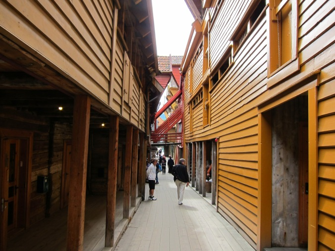 Inside the buildings within Bryggen