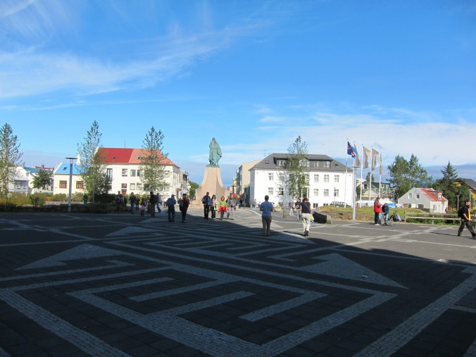 Outside Hallgrímskirkja