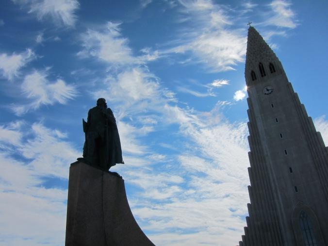 Leif Eriksson statue and Hallgrímskirkja