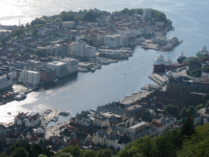 Bergen from Fløyen mountain