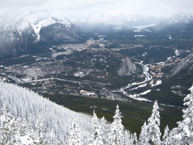 Favourite 2012 travel photos - Banff, Alberta from Sulphur Mountain.  April 2012