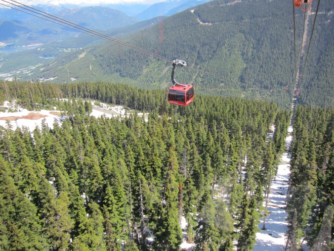 A gondola on the peak to peak