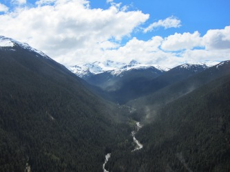 View midway to Blackcomb