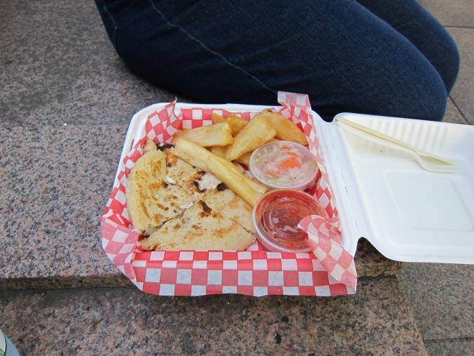 Guanaco's pupusa platter
