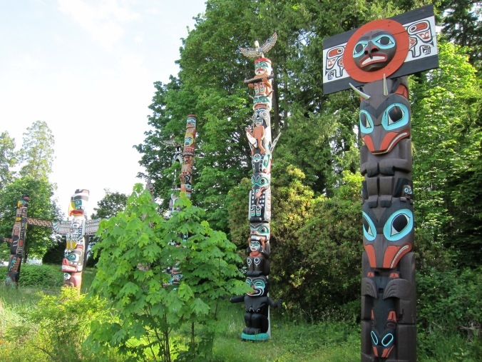 Totems in Stanley Park