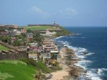 Coastline and Castillo San Felipe del Morro