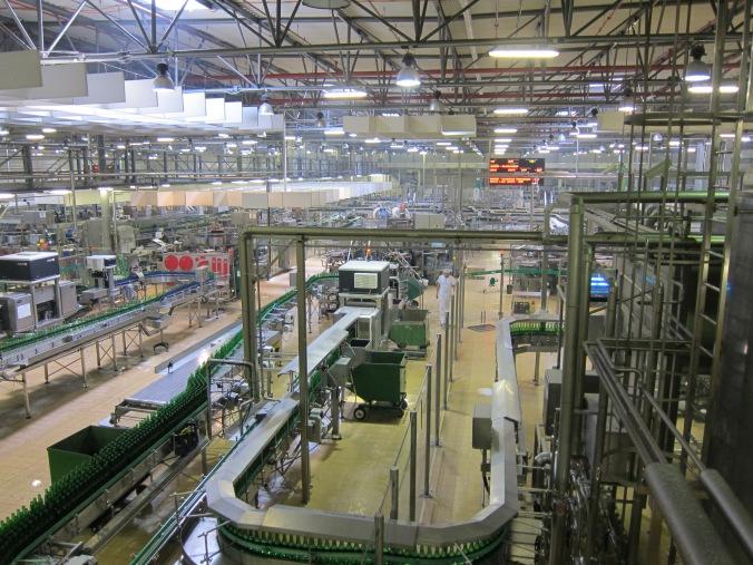 Bottling plant at Pilsner Urquell