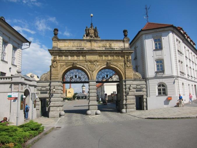 Gate at Pilsner Urquell
