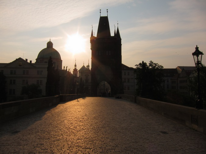Charles Bridge, early morning