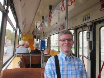 On a streetcar on the Ringstraße