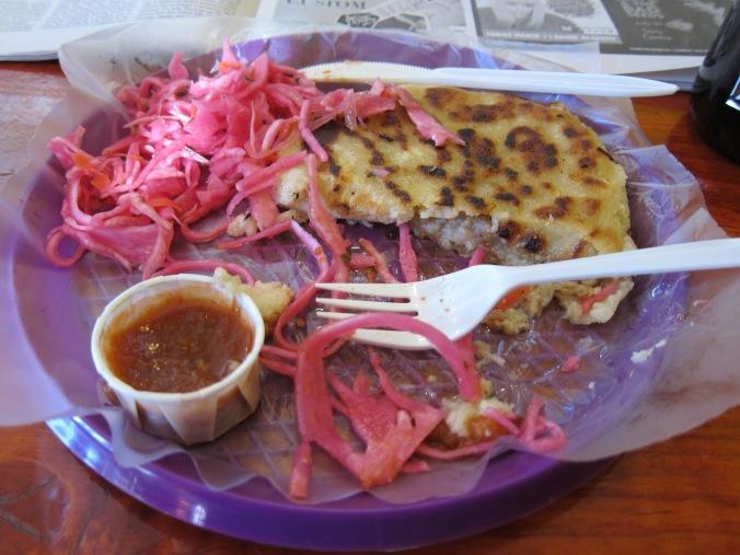 Pupusa at Tacos el Asador
