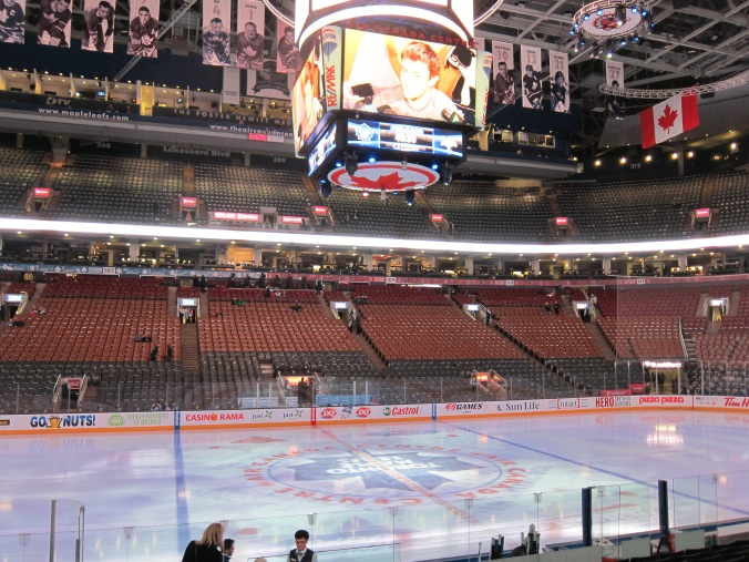 Centre ice at the ACC