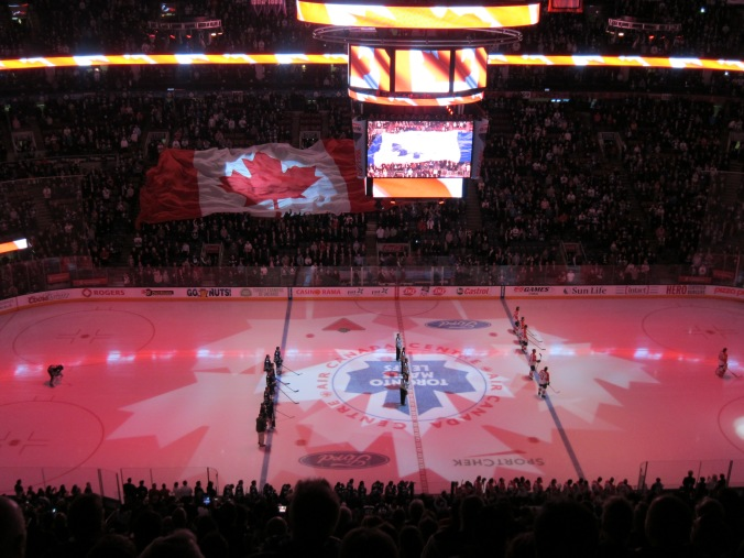 O Canada before Leafs game