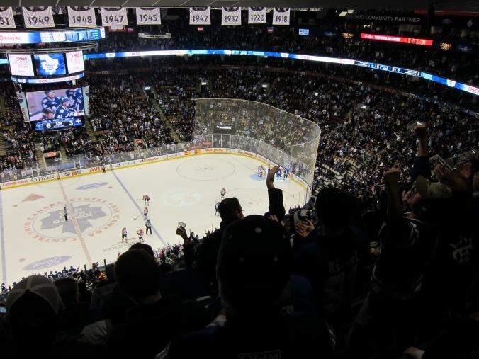 Leafs goal celebration