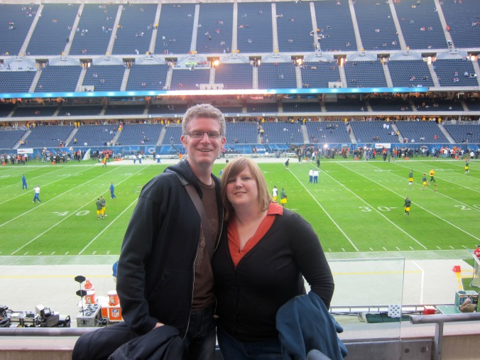 Us at the Bears game