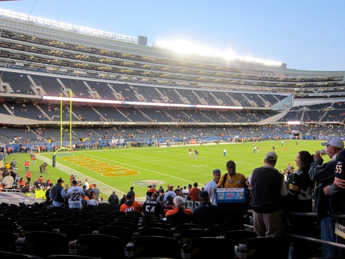At the Bears game