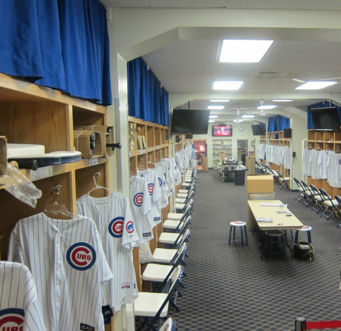 Chicago Cubs clubhouse