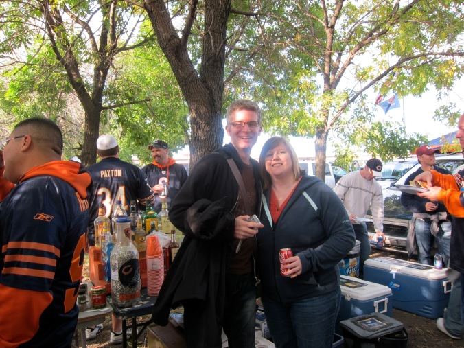 At the Bears tailgate