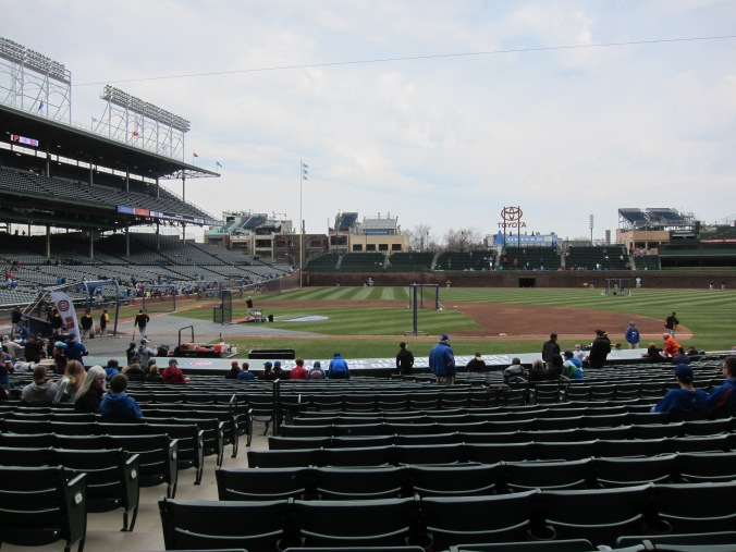 Batting practice at Wrigley