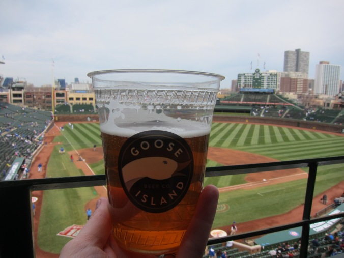 Goose Island beer at Wrigley