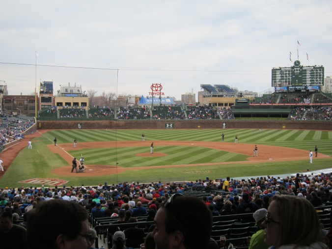 Moving down to better seats at Wrigley