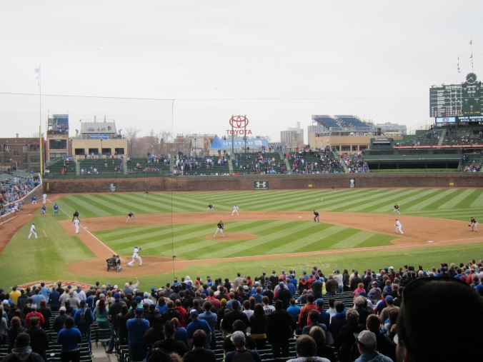 Last pitch of the Cubs game