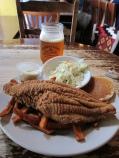 Fried catfish at Puckett's, Nashville