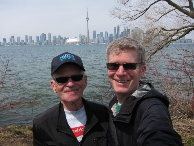 Dad and me on Centre Island