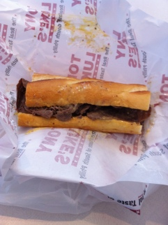 Tony Luke's cheesesteak
