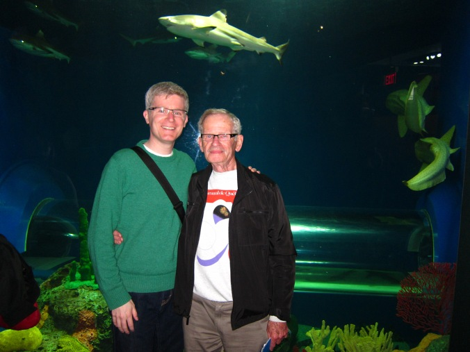 Me and Dad at the aquarium