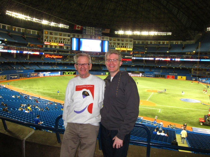 With Dad at Jays game