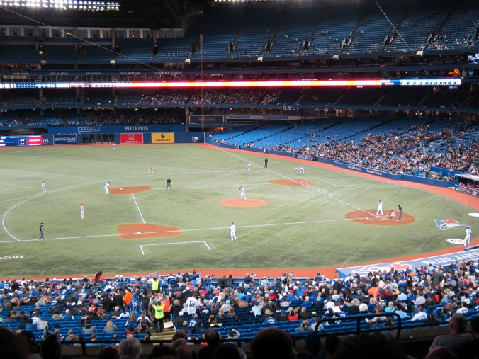 Jays-Phillies from better seats