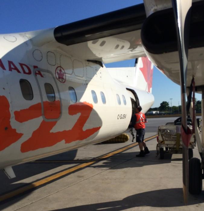 Our plane to Boston