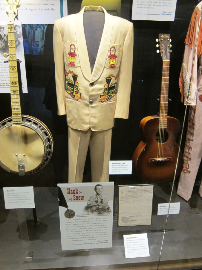 Hank Snow display at Country Music Hall of Fame and Museum