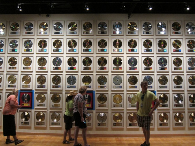 Gold and platinum records at Country Music Hall of Fame and Museum