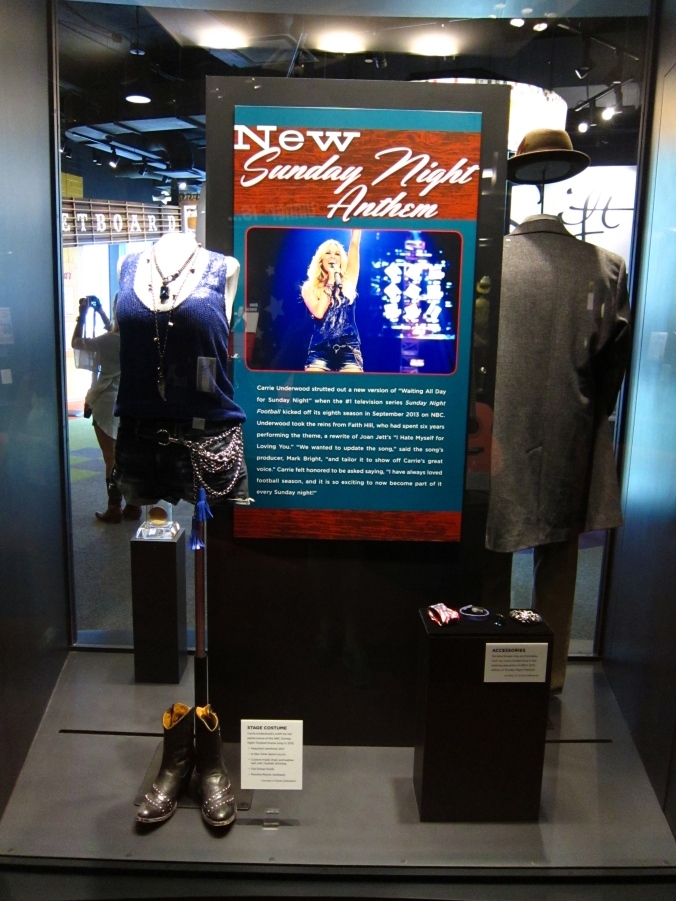 Sunday Night Football display at Country Music Hall of Fame and Museum