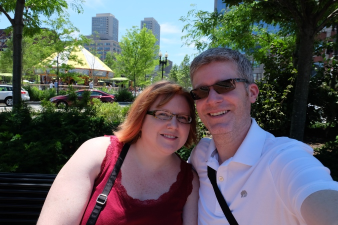 Us at the Rose Fitzgerald Kennedy Greenway