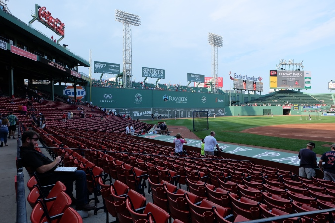 First view inside Fenway Park