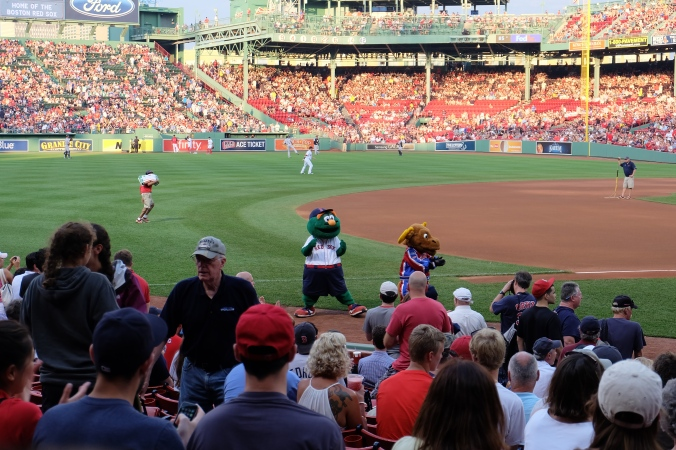 Red Sox mascot Wally the Green Monster