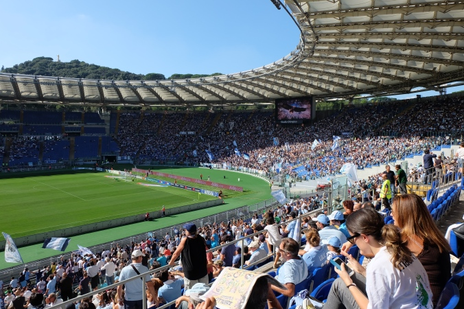 Stadio Olimpico in Rome for a Lazio match