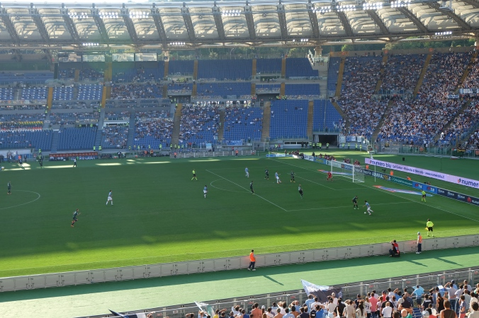 Lazio attacking in the second half