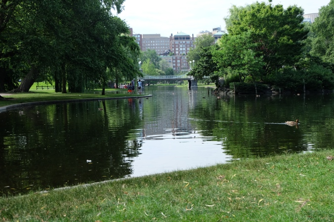 Lagoon Bridge in Boston Public Garden
