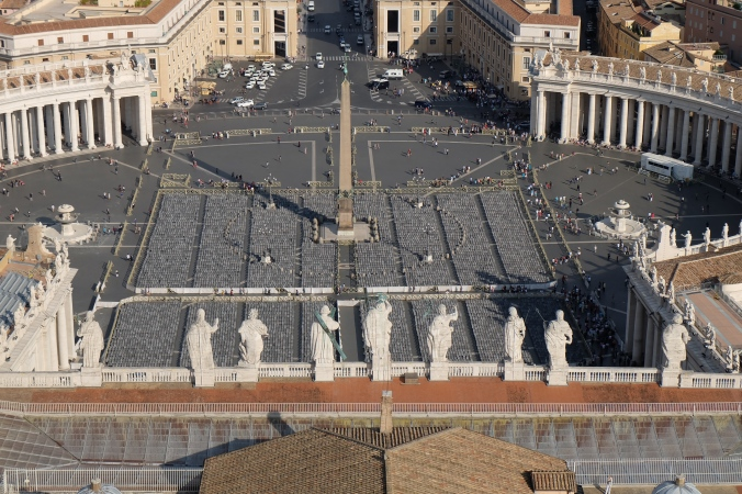 View from dome of St. Peter's Basilica