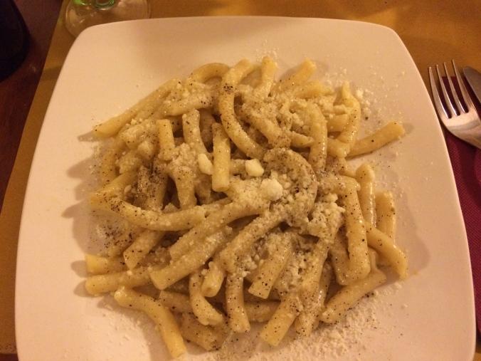 Pasta at La Carbonara
