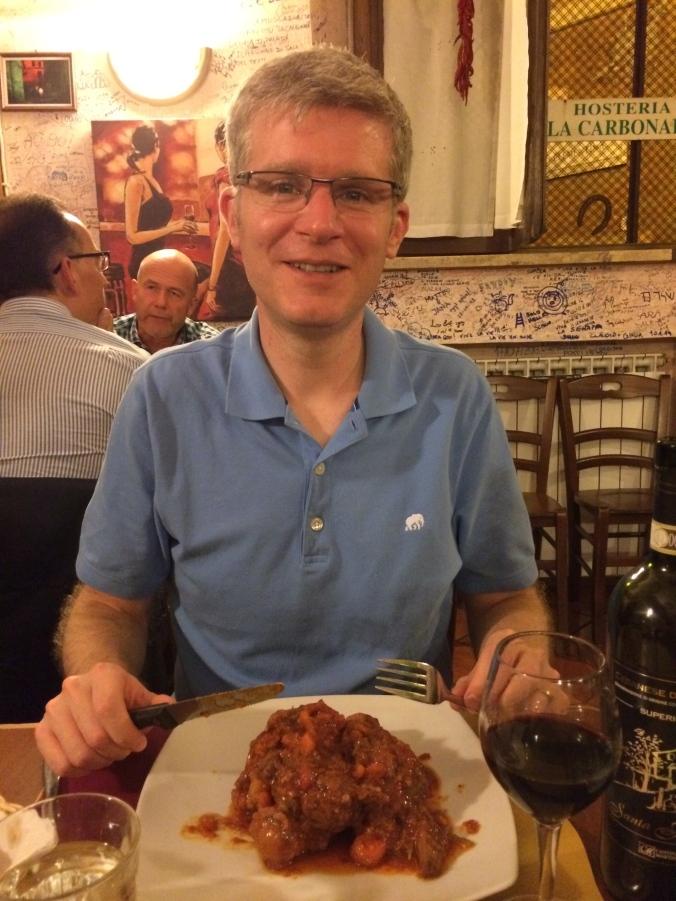 Oxtail dish at La Carbonara